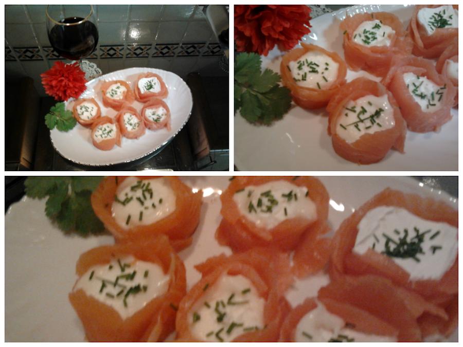 Entrantes y aperitivos con salm n ahumado cocina - Aperitivos de salmon ahumado ...