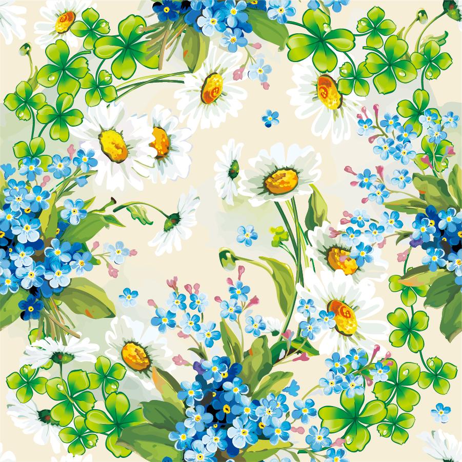 青い花ビラが美しい忘れな草の背景 nature organic plant backgrounds イラスト素材