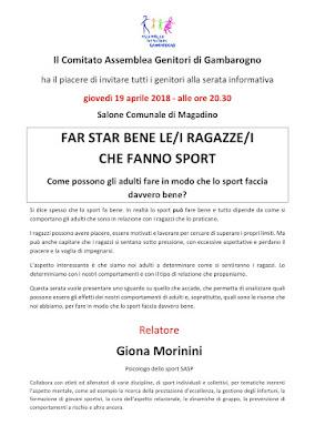 giovedì 19 aprile 2018  ore 20.30  Salone Comunale a Magadino     Relatore Giona Morinini