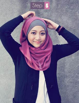 Cara+memakai+Hijab+Kerudung+Segiempat5 Cara Memakai Hijab Kerudung Segiempat