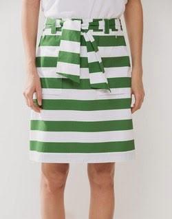 Imagen de falda a rayas verdes de Cortefiel