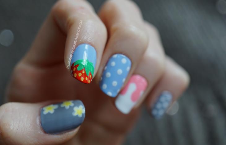 truskawki paznokcie