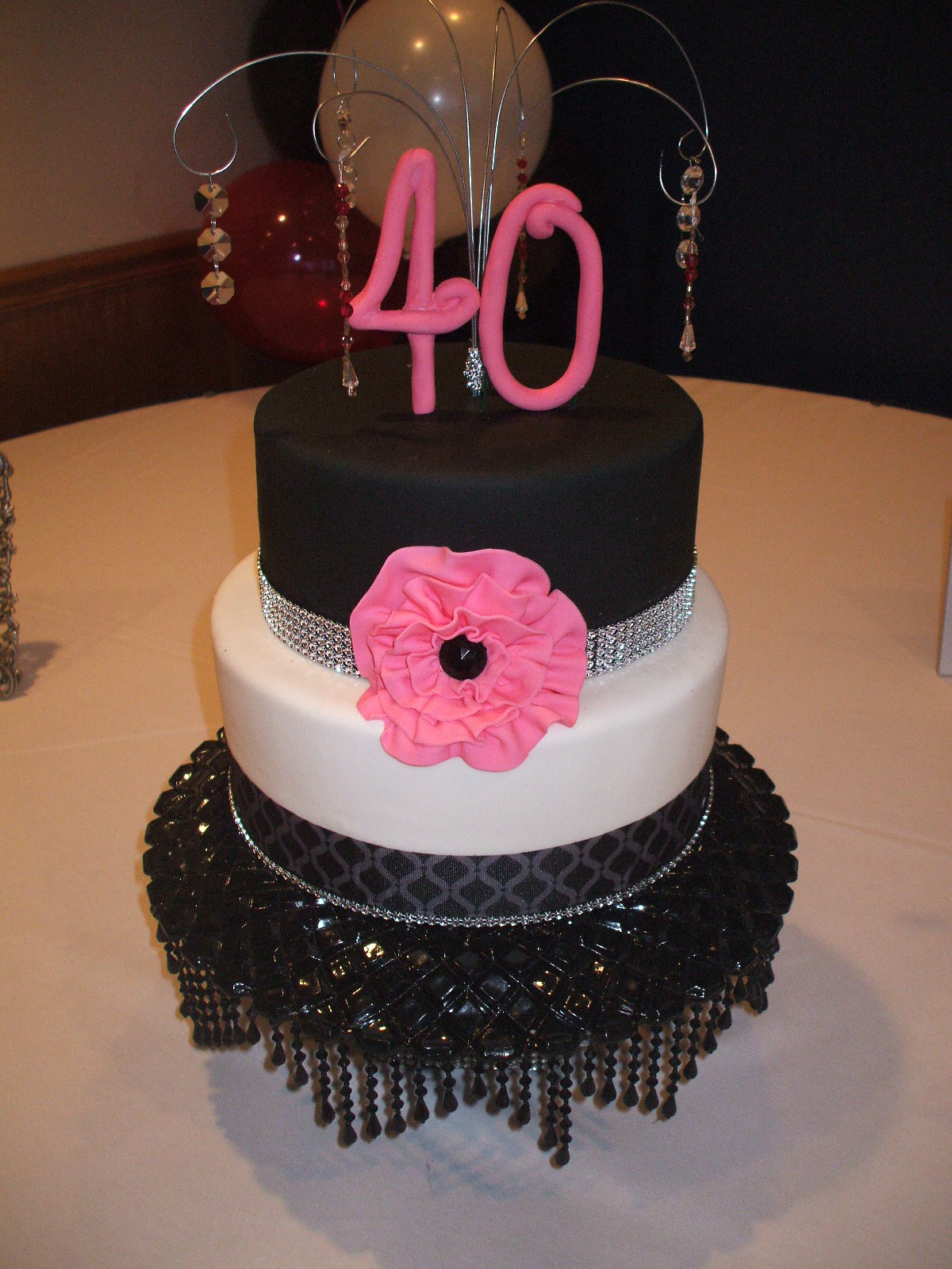 That s a Cake Hot Pink and Black 40th