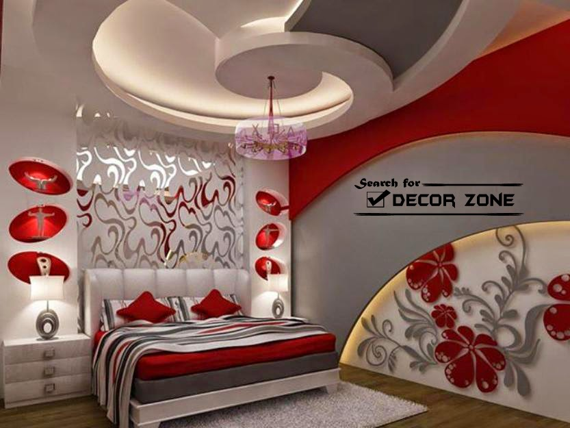 Latest gypsum board design catalogue for false ceiling for Bedroom gypsum ceiling designs photos