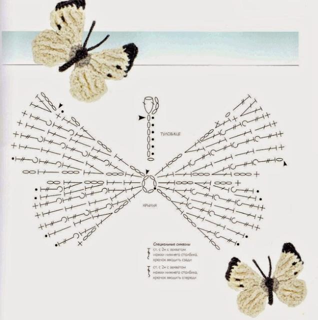 50 Mariposas, muchos patrones. | Crochet desde El Tabo.
