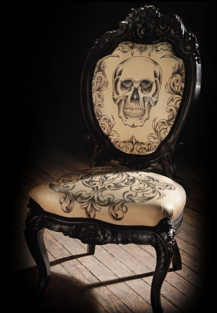 Gothic Skull Chair
