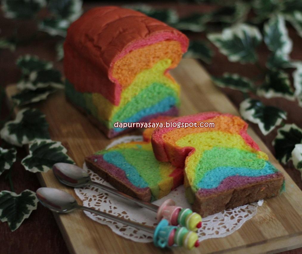 Roti Tawar Rainbow dibuat dengan MIXER BOSCH MUM6N11