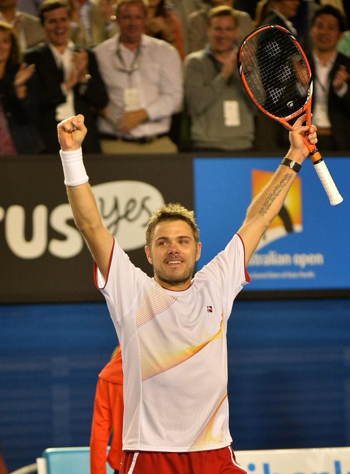 2014, Australia, Australian Open, Beat, Celebration, Match, Melbourne, Men, Novak Djokovic, Serbia, Single, Stanislas Wawrinka, Switzerland, Tennis, Victory,