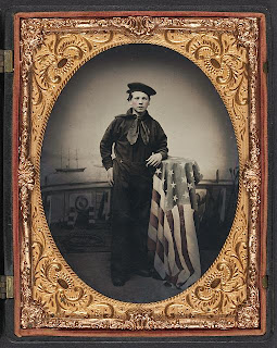 Daguerreotype of a young sailor  from the Library of Congress collection 