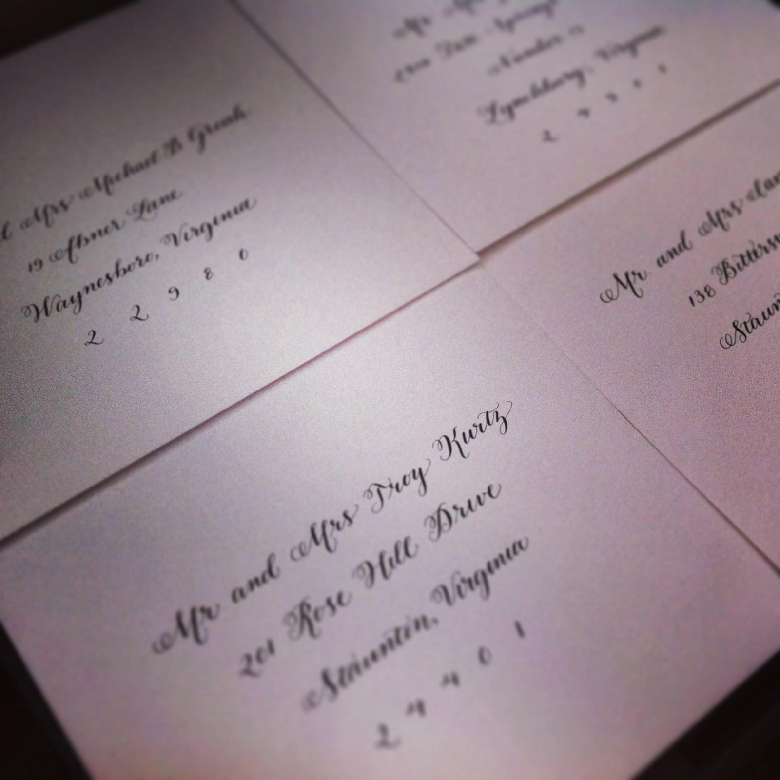 classic wedding calligraphy script