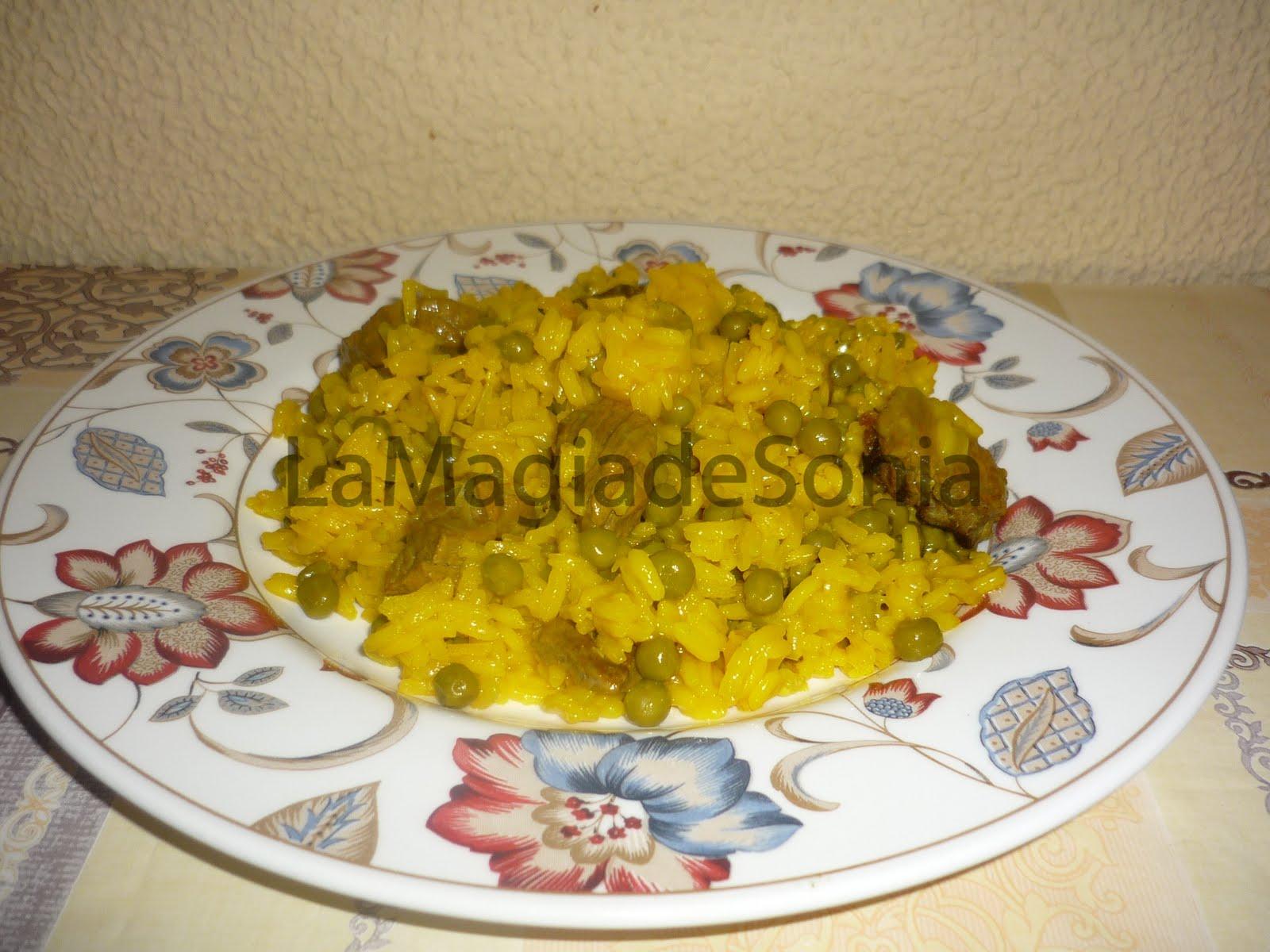 La magia de sonia arroz con ternera y guisantes for Cocinar guisantes congelados