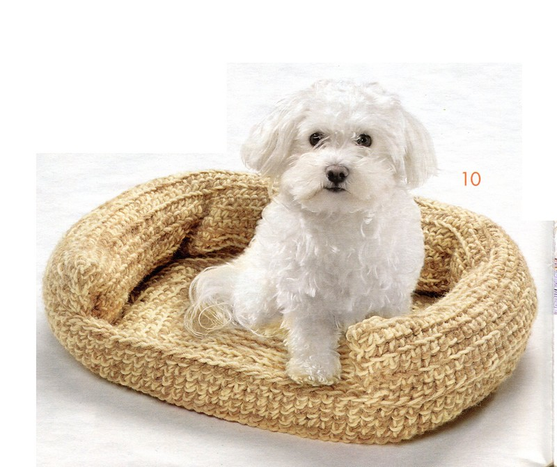Crochet Patterns Pet Beds : Crocheted Pet Bed Sofa Crochet English Pattern PDF CraftyLine e ...