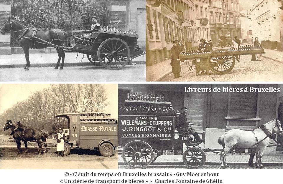 """Bières belges - """"C'était au temps où Bruxelles brassait"""" (Blog de Guy Moerenhout) - """"Un siècle de transport de bières"""" (Charles Fontaine de Ghélin) - Bruxelles-Bruxellons"""