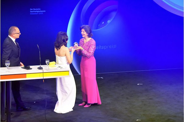 Queen Silvia of Sweden attends the German Sustainability Award 2015 (Deutscher Nachhaltigkeitspreis) at Maritim Hotel in Duesseldorf