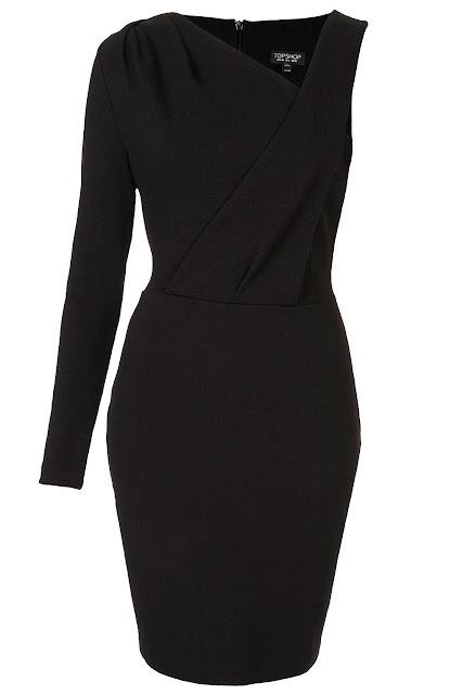 Topshop vestido negro