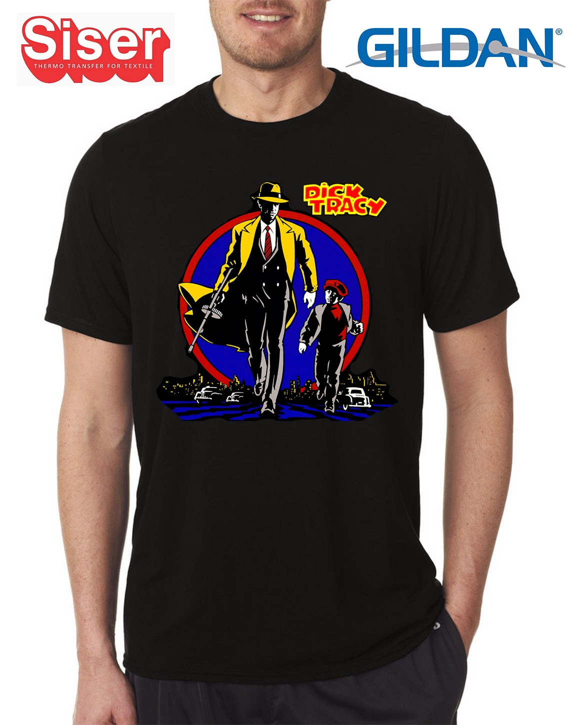 Niescha T Shirt Kaos Dick Tracy