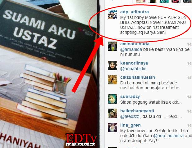Suami Aku Ustaz, filem pertama Adi Putra sebagai penerbit