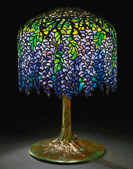 tiffany studios wisteria lamp sotheby 39 s new york 18 december 2013. Black Bedroom Furniture Sets. Home Design Ideas