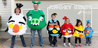 Family Set Costumes - Angry Birds