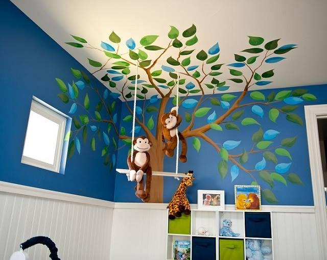 Dormitorios infantiles de safari - Habitaciones infantiles decoracion paredes ...