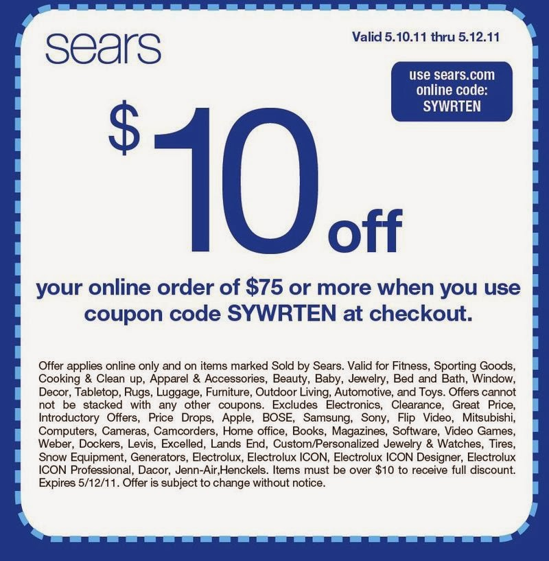 Sears canada coupons november 2018