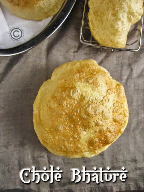 Puffed-bhature