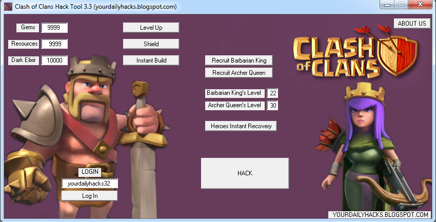 Clash Of Clans Hack Tool 3.3 | Created January 2013