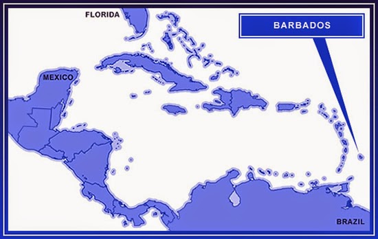 Barbados on the map