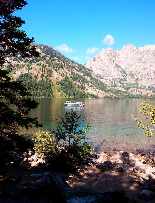 Boat on Jenny Lake