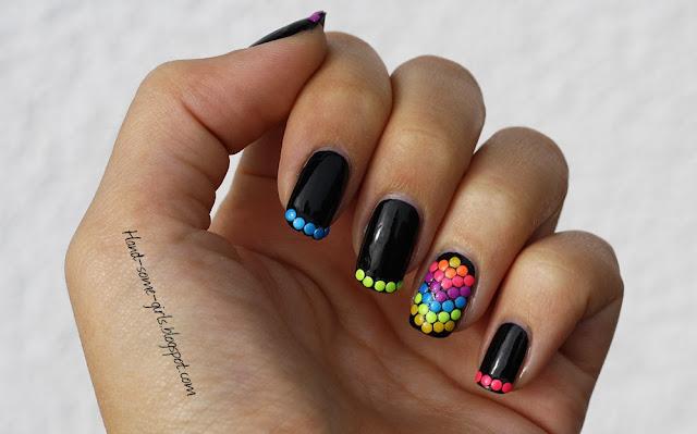 Neon studs nail