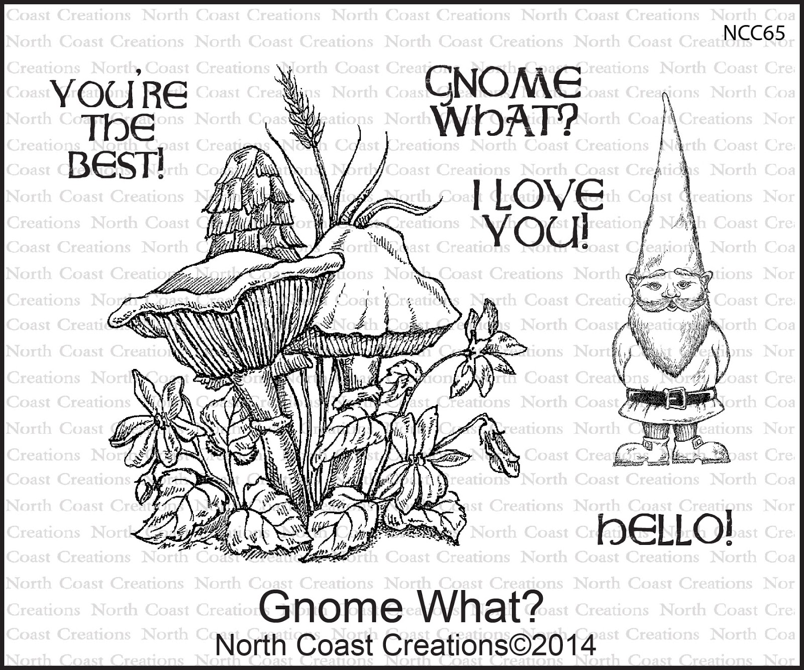 Stamps - North Coast Creations Gnome What