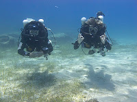 rebreather divers in Cyprus on the Megalodon