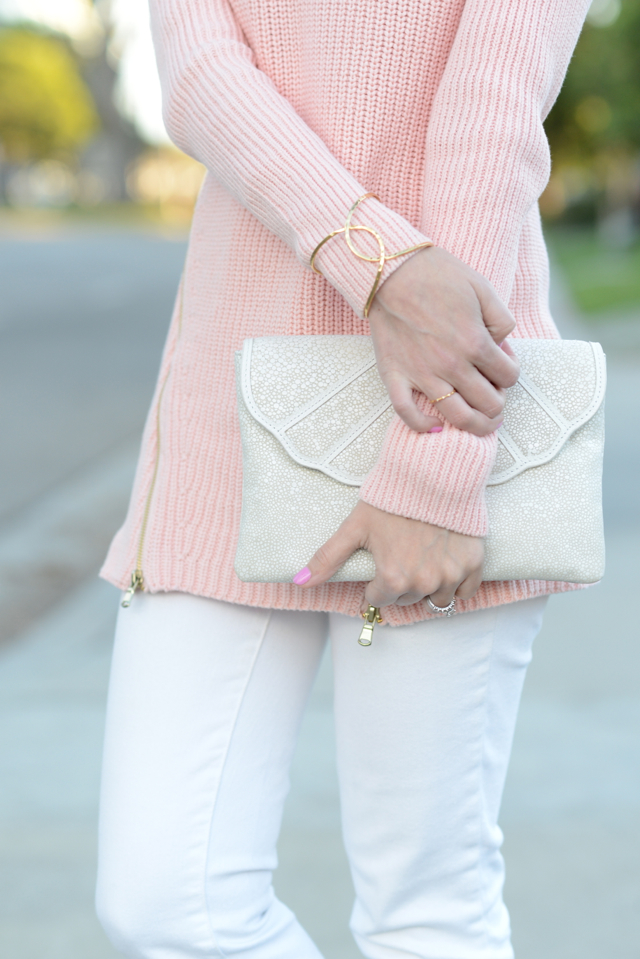 pink sweater and white j.crew jeans M Loves M @Marmar