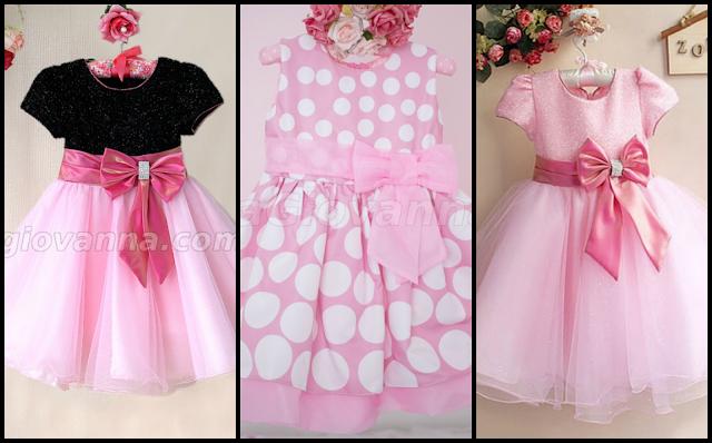 40 Vestidos para festa Minnie