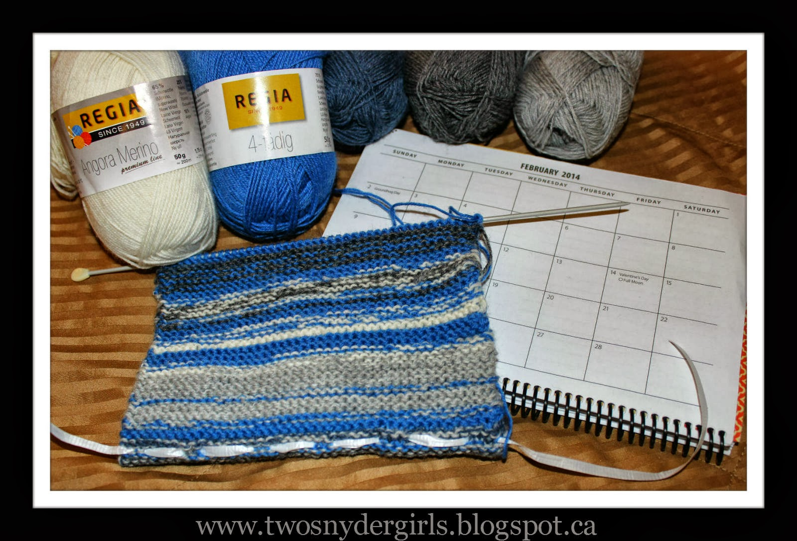 Knitting the February 2014 sky