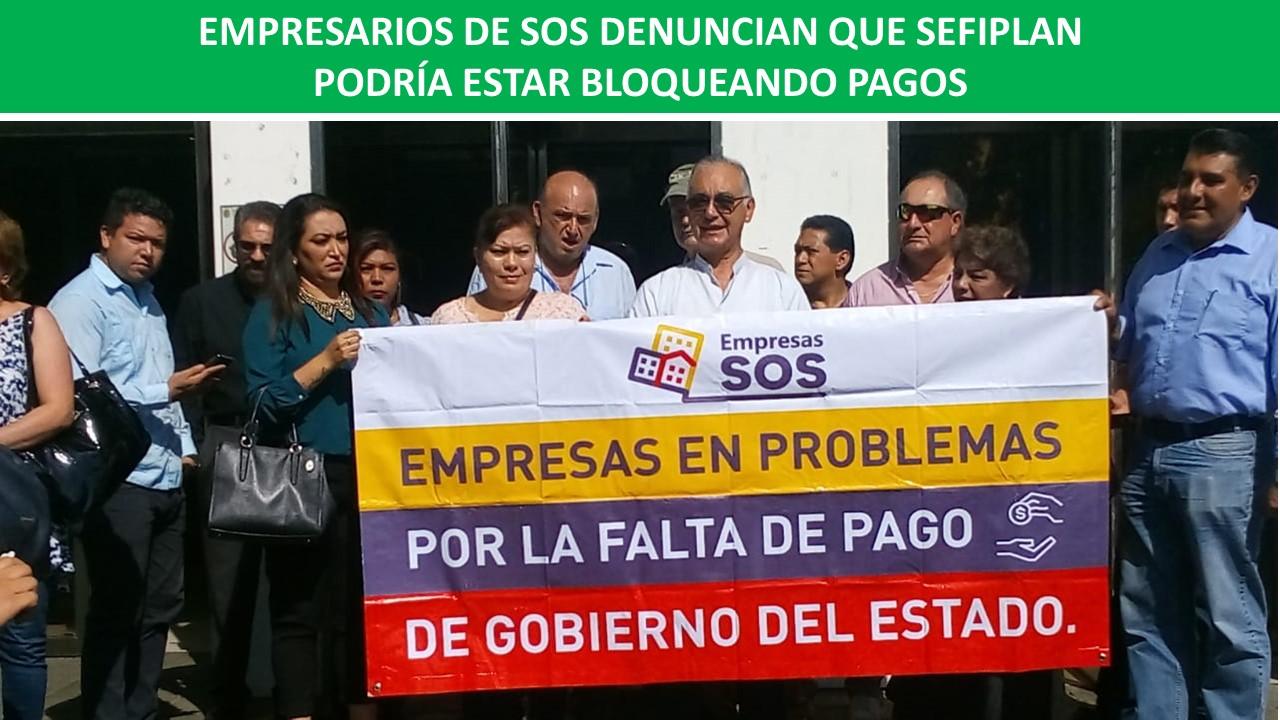 SEFIPLAN PODRÍA ESTAR BLOQUEANDO PAGOS