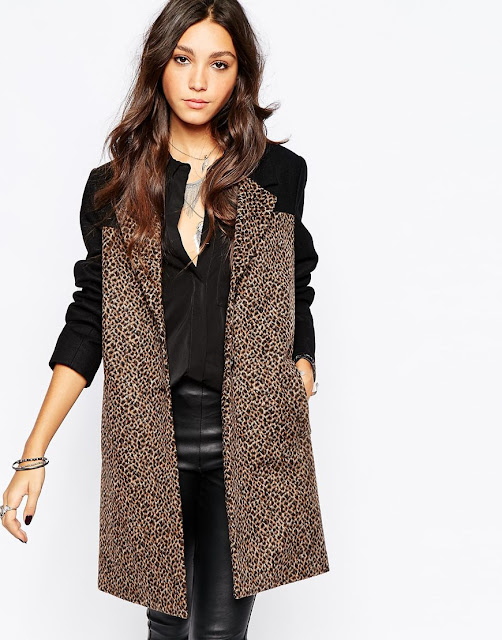 religion leopard coat, leopard panel coat,