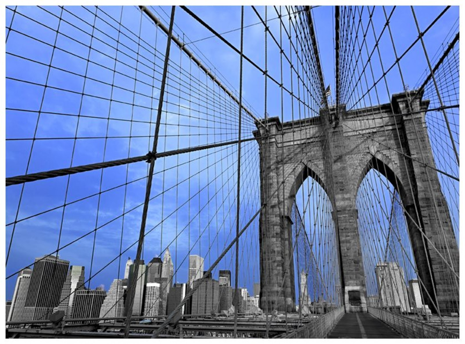 Pic new posts deco wallpaper murals for Brooklyn bridge wall mural