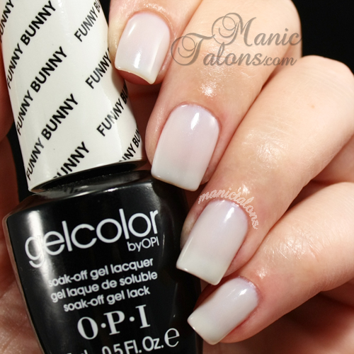 OPI GelColor Funny Bunny Swatch, Gel Polish, Soak Off Gel