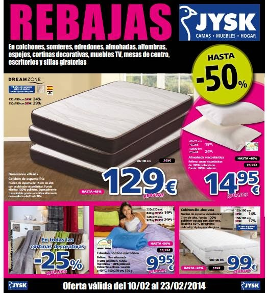 catalogo rebajas jysk febrero 2014