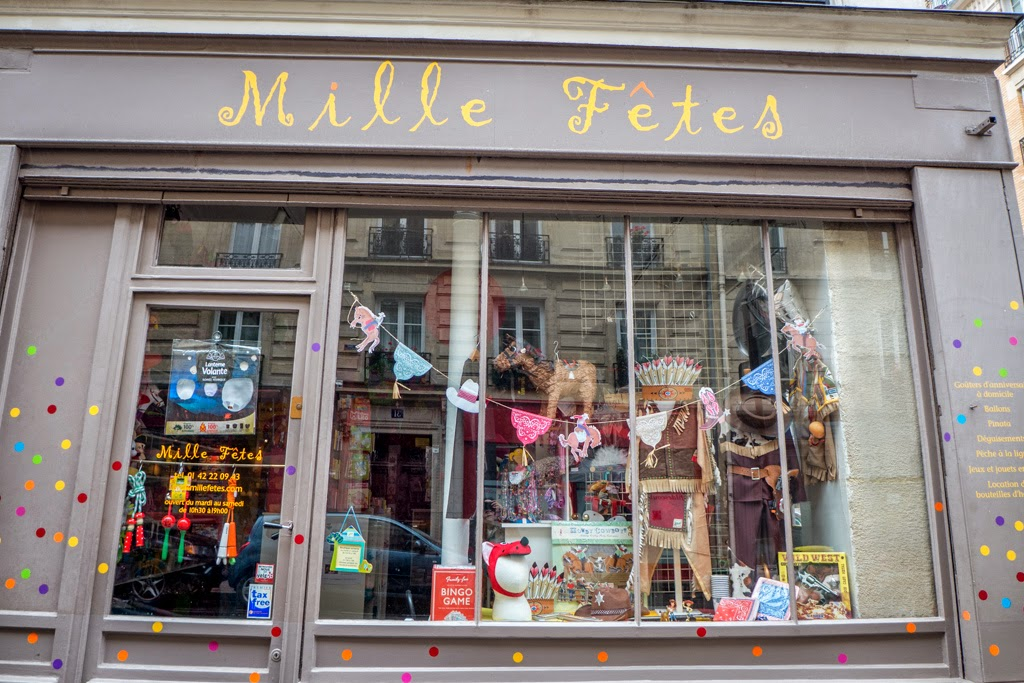 Paris France children's party store