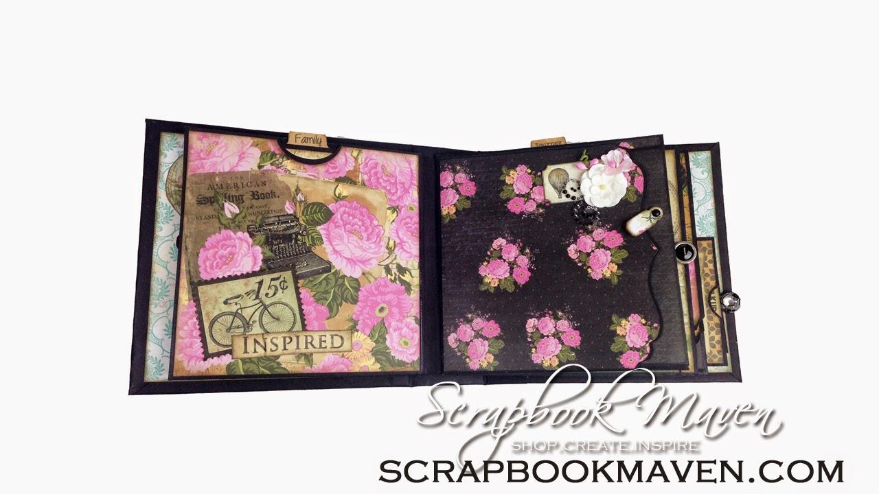Marion Smith Designs Romance Novel Chapter 2 Kit at ScrapbookMaven.com Mini Album