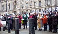 protesting against Trident