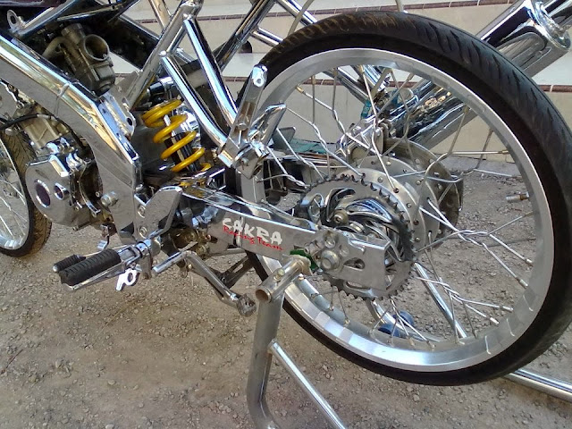 Modifikasi Motor Suzuki Satria F Full Chrome
