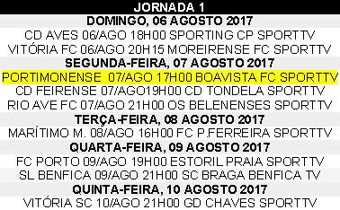 Liga Nós 2017-2018 1ºJornada