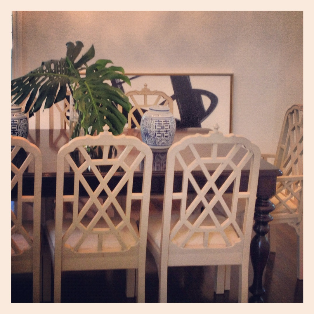 Designing The New Digs: Chinese Chippendale Dining Chairs