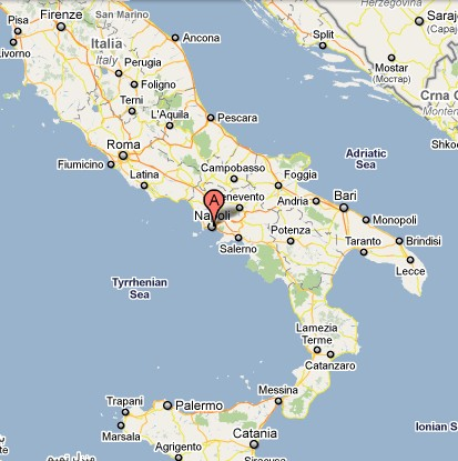 Lisa in Italy Map of Almafi Coast Italy