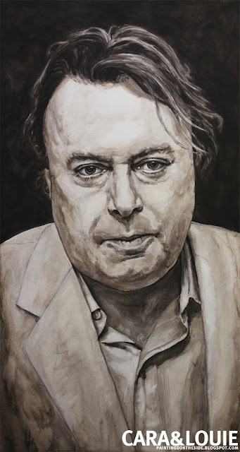 original painting of Christopher Hitchens