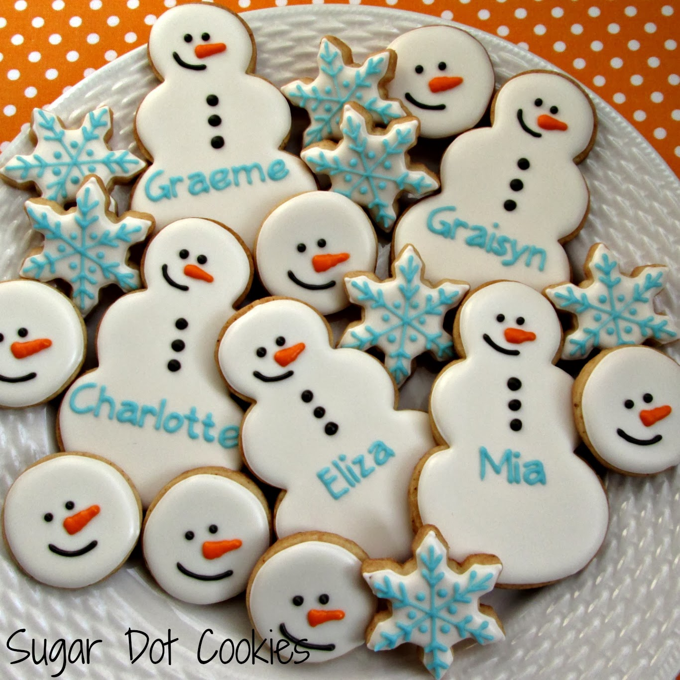 Snowman heads and mini flakes.....
