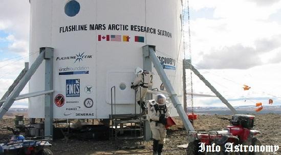 Suasana latihan astronot Mars Society